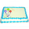 1/4 SLAB CHOCOLATE BIRTHDAY CAKE WITH BLUE TRIM / NO SCRIPT