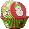 PACK OF 75 STANDARD SNOWMAN BAKING CUPS
