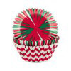 PACK OF 75 STANDARD HOLIDAY STRIPE BAKING CUPS