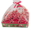 4 SETS SQUARE SNOWMAN GIFT TRAY KITS BY WILTON
