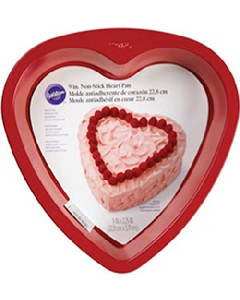 WILTON RED NON-STICK 9 INCH HEART PAN