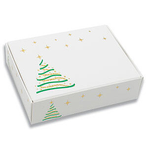1/4 Lb BOX  WITH CHRISTMAS TRE DESIGN