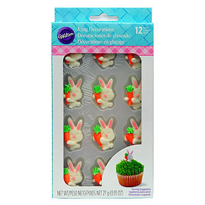 ICING DECORATION WILTON BUNNY CARROT EASTER