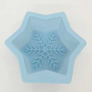 "3 1/2"" LIGHT BLUE SILICONE SNOWFLAKE MOLD"