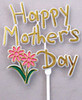 "48 PKG 3 1/2"" MOTHERS DAY PICK WITH FLOWERS"