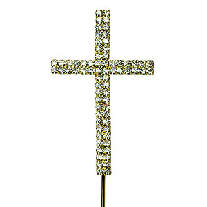 CROSS BLING GOLD PICK CRUCIFIX
