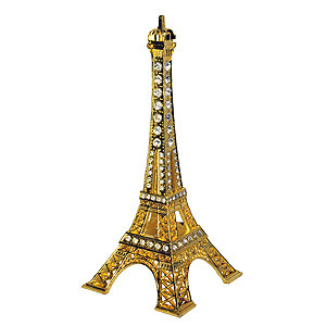 ORNAMENT EIFFEL TOWER BLING TOPPER GOLD