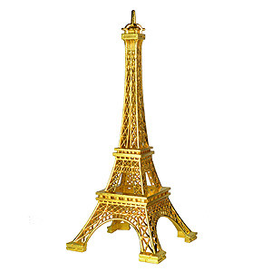 EIFFEL TOWER ORNAMENT TOPPER GOLD