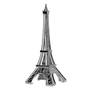 ORNAMENT EIFFEL TOWER BLING TOPPER SILVER