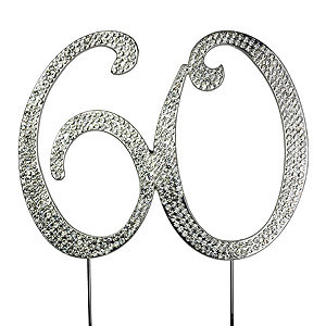 BLING PICK NUMBER 60 SIXTY SILVER
