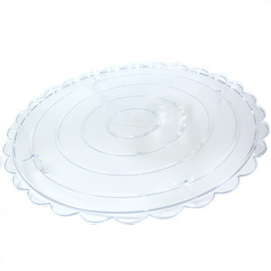 SEPARATOR PLATE CLEAR ROUND 8 INCHES