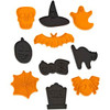 WILTON 10 PIECE EMBOSSED HALLOWEEN CUTTERS SET