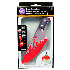 ROYAL ICING KNIFE LARGE TOPPER BLOODY HALLOWEEN
