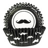 BAKING CUPS GREASEPROOF BLACK MUSTACHE