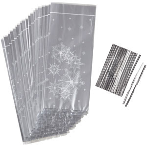 WILTON SILVER SNOWFLAKE PARTY BAGS