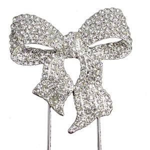 BLING PICK - SILVER BOW