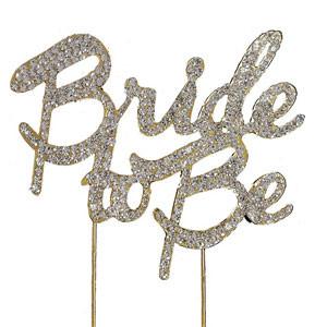 bling pick bride to be in gold