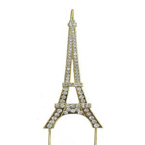 BLING PICK - EIFFEL TOWER IN GOLD