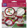 WILTON DECORATING CUPCAKE COMBO KIT -SANTA