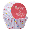 WILTON MERRY & BRIGHT STANDARD BAKING CUPS - 75 PIECES PER PACKAGE
