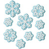 PACK OF 18 SNOWFLAKE ICING DECORATIONS BY WILTON
