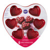 RED NON STICK HEART MINI CAKE PAN - 6 CAVITIES