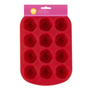 MINI ROSES SILICONE MOLD - 12 CAVITIES