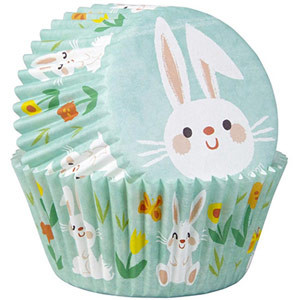 WILTON STANDARD BAKING CUPS EASTER BUNNY DESIGN
