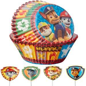 WILTON CUPS & PICKS FOR CUPCAKES - PAW PATROL