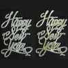 HAPPY NEW YEAR SCRIPT PICKS -  GOLD AND SILVER - 48 PIECES