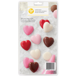 WILTON SMOOTH HEART-SHAPED CANDY MOLD