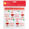 WILTON RESEALABLE HOLLY JOLLY PARTY BAGS - PACK OF 20