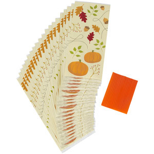WILTON PARTY BAGS - PUMPKINS & LEAVES