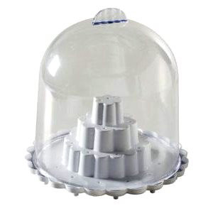 CAKE POP STAND WITH DOME LID - HOLDS 25 POPS