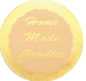 "1 PC 1 1/2"" HOME MADE CANDIES STICKER"
