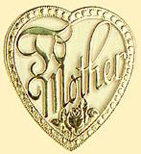 "1 PC 3"" TO MOTHER FOIL HEART"