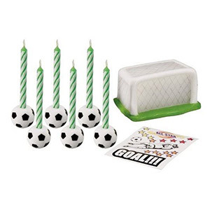 SOCCER CANDLE SET 14 PC SET