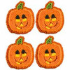 12 PKG PUMPKIN SMILE ICING DECORATIONS