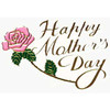 "1 PC 4 1/4"" MOTHERS DAY PLAQUE WITH ROSE"