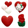 "ASSORTED ROYAL ICING VALENTINE #2 - 3/4"" - 240 PCS"
