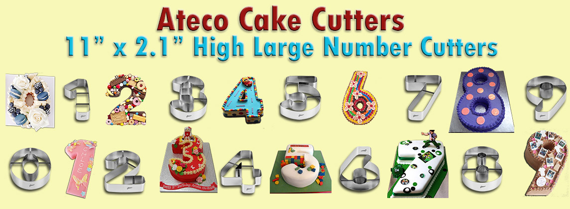 BUY ATECO HIGH LARGE NUMBER CAKE CUTTERS!