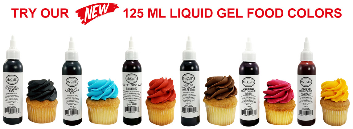 NEW GEL FOOD COLOURS FROM MCCALL'S