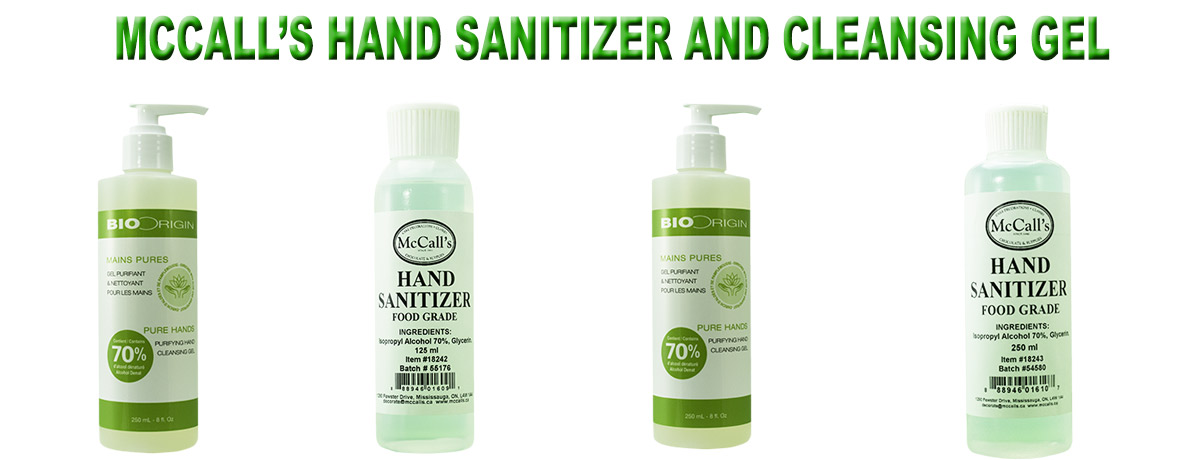McCall's offers new products - Hand Santizer Cleansing Gel!