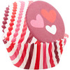 WILTON STANDARD HEARTS & STRIPES CUPS - 75 PC