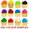 SAMPLE OF GEL FOOD COLOURS