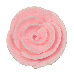 ROYAL ICING ROSE FLOWER EDIBLE LIGHT PINK